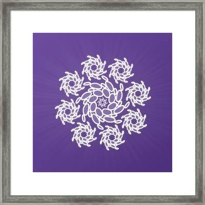 Spiral Dance Framed Print by Sallie Keys