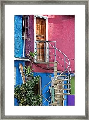 Framed Print featuring the photograph Spiral Entry by Kim Wilson