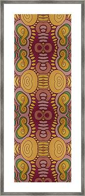 Spiral Figure 8's Framed Print by Modern Metro Patterns and Textiles