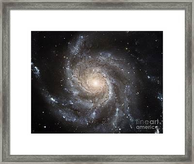 Spiral Galaxy M101 Framed Print by NASA ESA Space Telescope Science Institute
