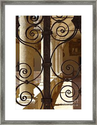 Spiral Gate  Framed Print
