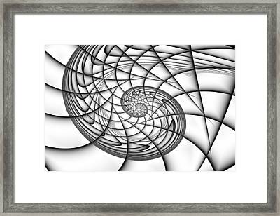 Spiral In Monochrome Framed Print by Mark Eggleston