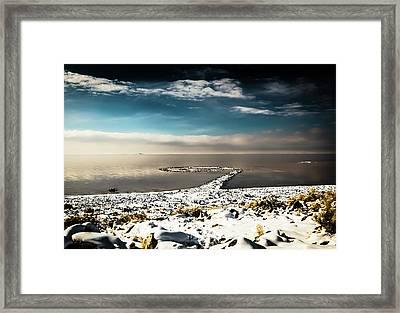 Spiral Jetty In Winter Framed Print