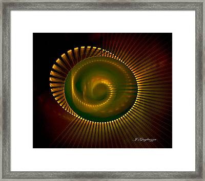Spiral Light Framed Print by Jean Gugliuzza