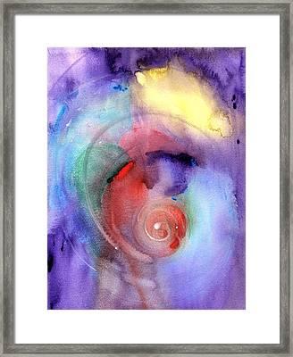 Spiral Framed Print by Maia Gilman