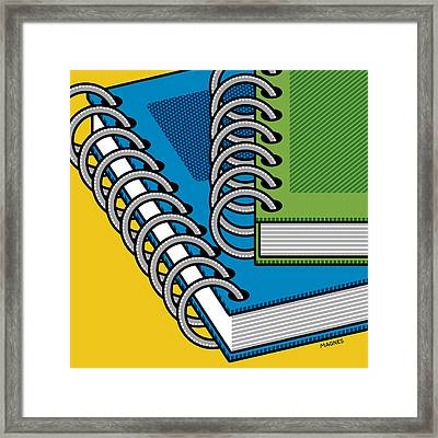 Framed Print featuring the photograph Spiral Notebooks by Ron Magnes