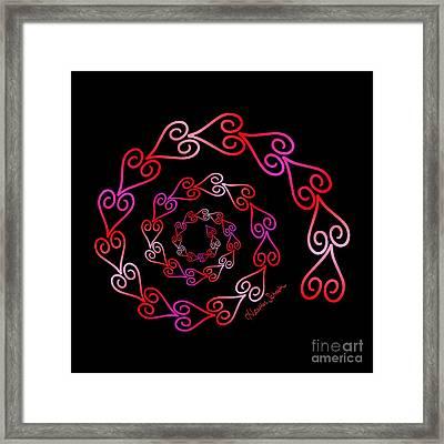 Spiral Of Hearts Framed Print