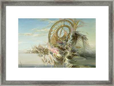 Spiral Of Time Framed Print by Sergey Gusarin