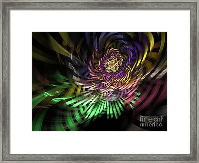 Spiral Rainbow Framed Print by Deborah Benoit