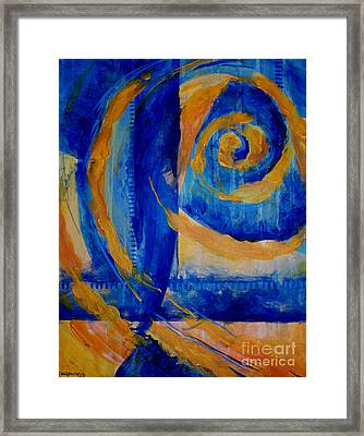 Spiral Sea Framed Print by Dee Youmans-Miller
