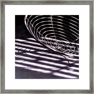 Spiral Shadows Framed Print