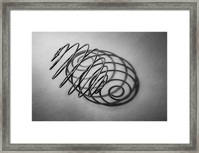 Spiral Shape And Form Framed Print