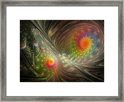 Spiral Space Framed Print by Mary Raven
