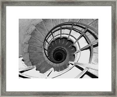 Framed Print featuring the photograph Spiral Staircase At The Arc by Donna Corless