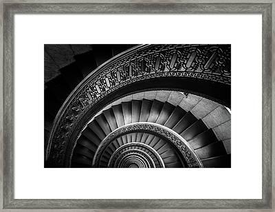 Spiral Staircase Bw Framed Print