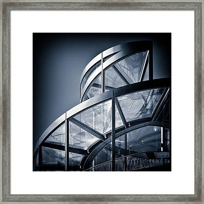 Spiral Staircase Framed Print by Dave Bowman