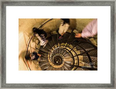 Spiral Staircase Framed Print by Didier Marti