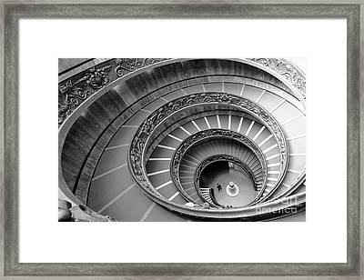 Spiral Staircase Framed Print by Floyd Menezes