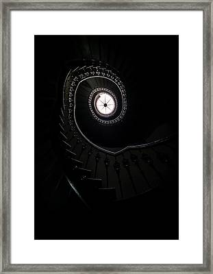 Spiral Staircase In An Old Mansion Framed Print