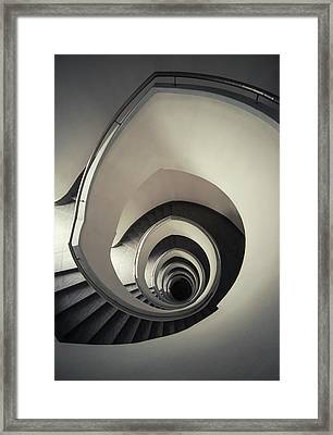 Spiral Staircase In Beige Tones Framed Print