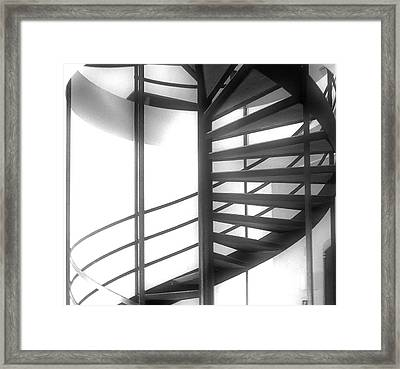 Spiral Staircase In Ethereal Light Framed Print by Lori Seaman