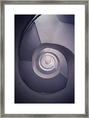 Spiral Staircase In Plum Tones Framed Print
