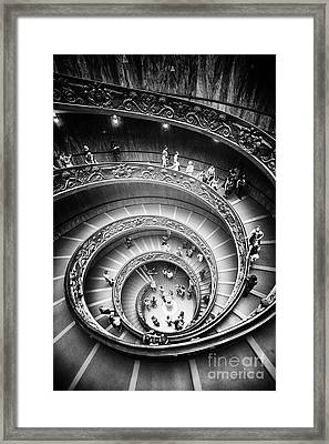 Spiral Staircase Vertical Framed Print by Stefano Senise