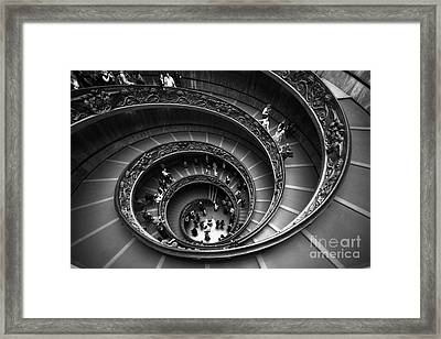 Spiral Stairs Horizontal Framed Print
