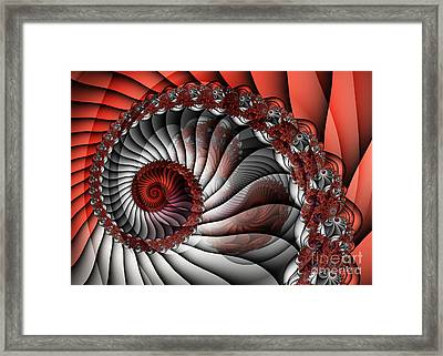 Spiral Stairs Framed Print by Jutta Maria Pusl