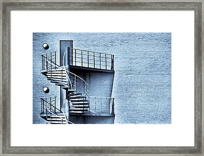 Spiral Stairs Framed Print by Tom Gowanlock