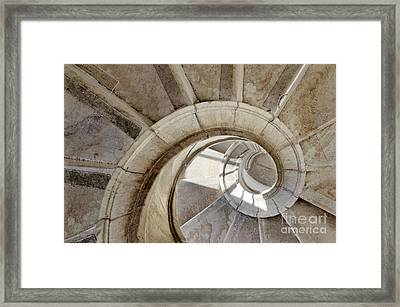 Spiral Stairway Framed Print by Carlos Caetano