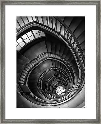 Spiral Stairway Framed Print