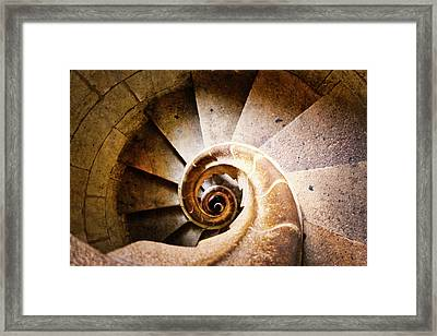 Spiral Steps Framed Print