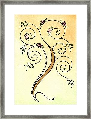 Spiral Tree Framed Print by Nora Blansett