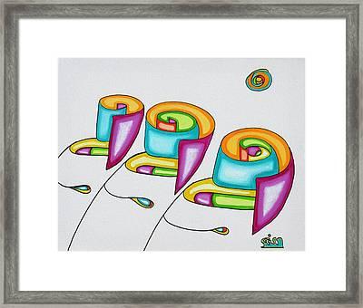 Spiral Triplets Framed Print by            Gillustrator