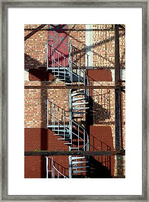 Spiral Up Or Down Framed Print by Jez C Self