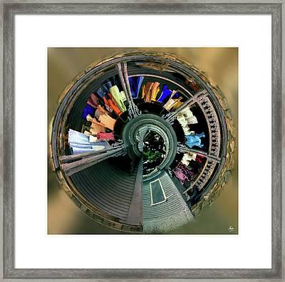 Spiral Washline Framed Print