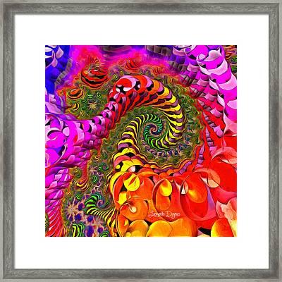 Spiral World - Da Framed Print by Leonardo Digenio
