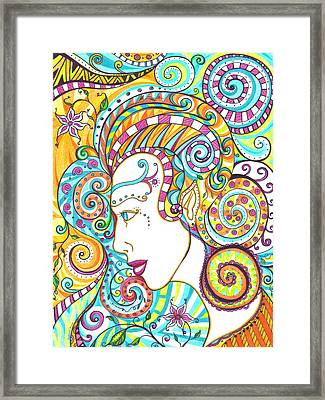 Spiraled Out Of Control Framed Print by Shawna Rowe