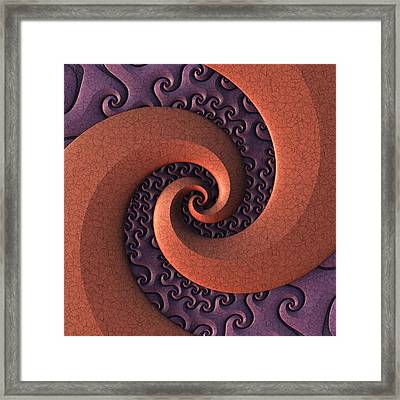 Framed Print featuring the digital art Spiralicious by Lyle Hatch