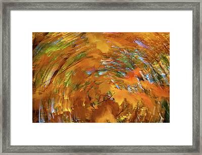 Spiraling Autumn Framed Print