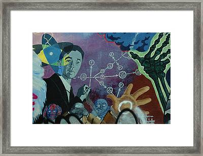 Spiraling Confusion Framed Print by Lori Mellen-Pagliaro