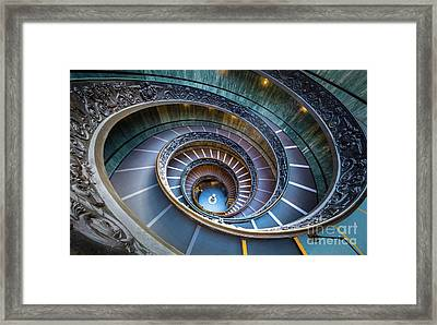Spiraling Down Framed Print by Inge Johnsson