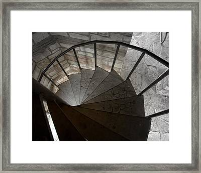Framed Print featuring the photograph Spiraling Downward by Karen Musick