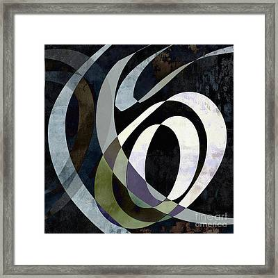 Spiraling Out Of Control Abstract Square  Framed Print by Edward Fielding