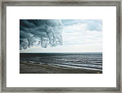 Spiraling Storm Clouds Over Daytona Beach, Florida Framed Print