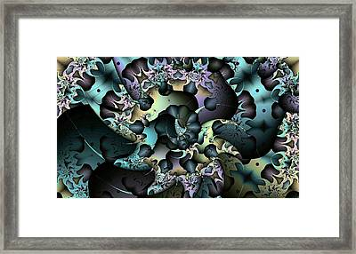 Spiraling Tendrils Framed Print by Ron Bissett