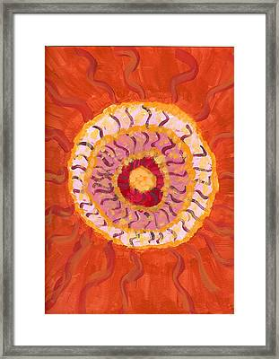 Spiraling To The Center Framed Print by Laura Lillo
