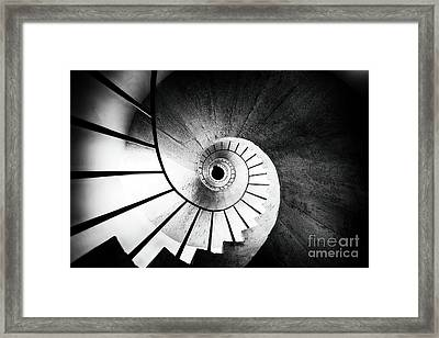 Spiraling Up Framed Print by George Oze