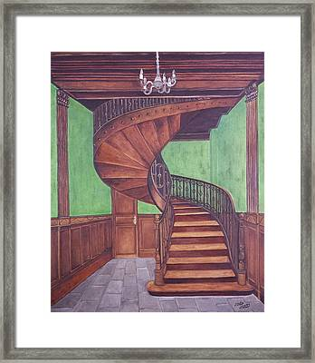 Spiraling Up Framed Print by Judy Jones